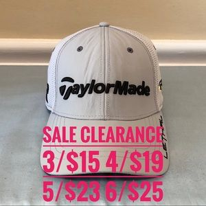 TAYLORMADE Gray Golf Cap SALE CLEARANCE 3 for 15